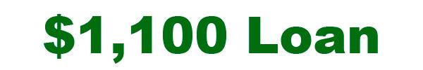 $1100 Loan